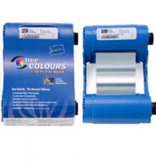 800017-207 Zebra i Series metallic silver monochrome ribbon cartridge for P1xx printers, 1000 images.  Environmentally friendly design