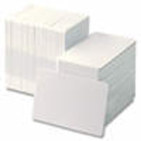 104523-125 Zebra white PVC 20 mil cards 500 per box