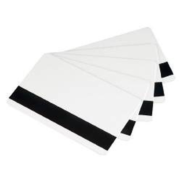104524-803 Card, White Composite, High Coercivity Magnetic Stripe, 30 Mil, Retransfer-Ready