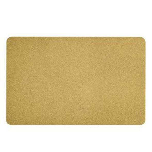104523-133 Zebra color PVC card - gold metallic, 30 mil  800-688-6373 allid.com