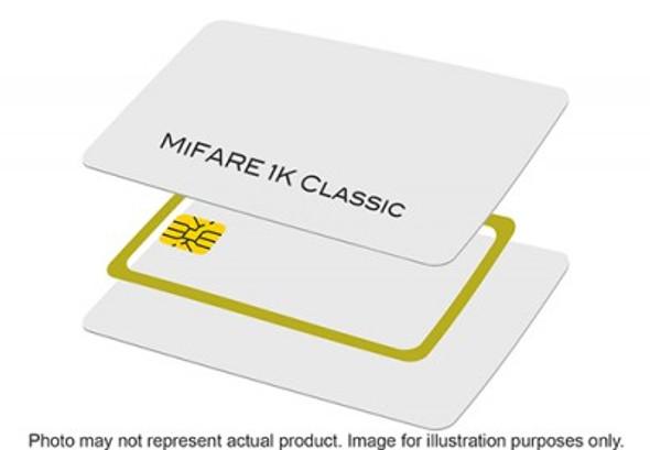 800059-301 Zebra MiFARE 1K Classic Infineon card, PVC, 30 mil, CR-80 (500 cards/box)