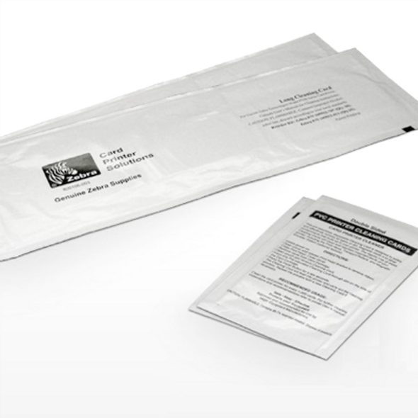 """105912-913 Zebra cleaning kit for P330i, P430i (25 standard and 25 large """"T"""" cards)"""