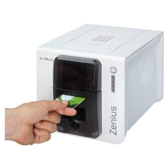 ZN1U0000TS Evolis Zenius Classic Grey Brown Printer without option, USB