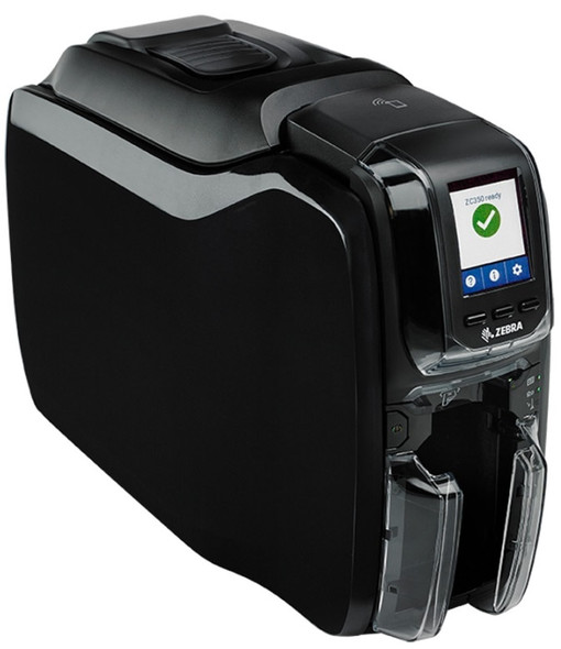 ZC350 ID Card Printer: Single-Sided w/ Ethernet & WiFi
