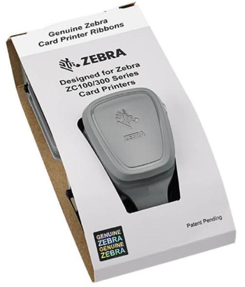 Zebra ZC300 Monochrome Ribbon - Metallic Silver - 1500 Images (800300-307)