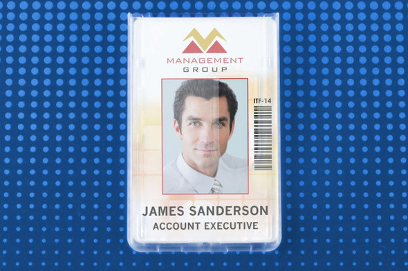 Brady 1840-6550 Frosted Rigid Plastic Vertical 2-Card Access Card Dispenser