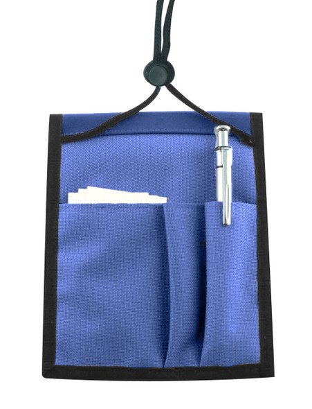 Brady 1860-3002 Royal Blue Nylon Multi-Pocket Credential Wallet with Neck Cord