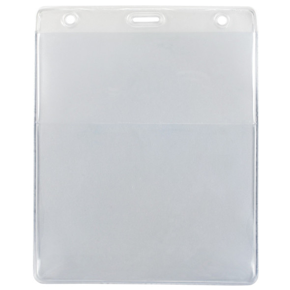 Brady 1860-4000 Clear Vinyl Vertical Credential Wallet with Slot and Chain Holes