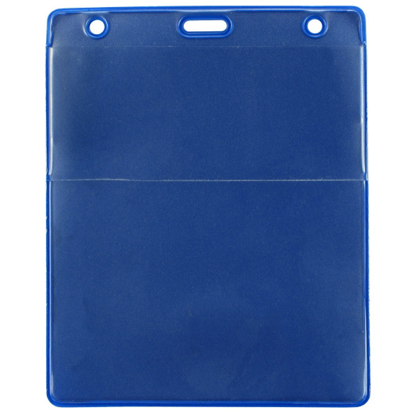 Brady 1860-4003 Royal Blue Vinyl Vertical Credential Wallet with Slot and Chain Holes