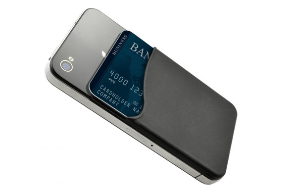 Brady 1860-5001 Black Silicone Cell Phone Wallet