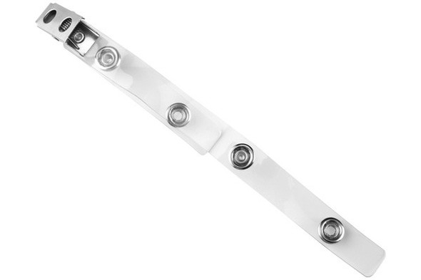 Brady 2105-3050 Clear Vinyl Strap Clip with 2-Hole NPS Clip & Double Straps