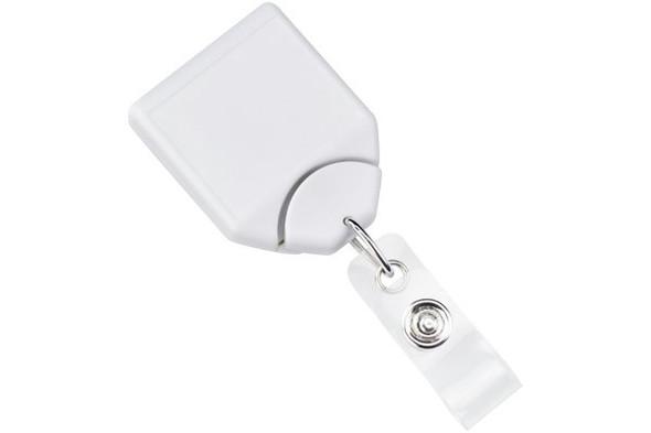 Brady 2120-7808 White B-REEL Badge Reel with swivel-clip with teeth