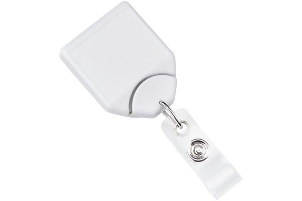 Brady 2120-8008 White B-REEL Badge Reel With Swivel Belt Clip