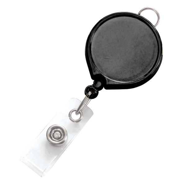 Brady 2124-3031 Black Badge Reel with Clear Vinyl Strap & Belt Clip