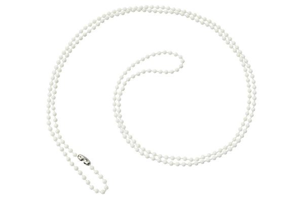 "Brady 2130-1508 White Plastic Beaded Neck Chain, Length 36"""