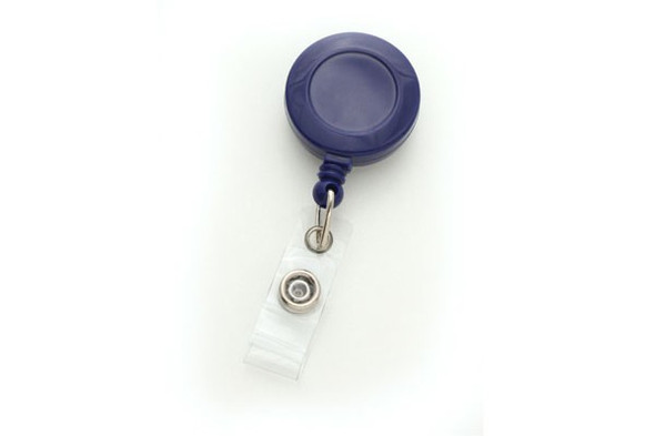 Brady 2120-3032 Royal Blue Badge Reel with Clear Vinyl Strap & Belt Clip