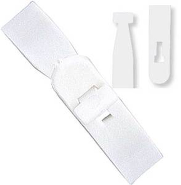 """2430-1000 Semi-rigid vinyl """"T"""" lock strap - Clear"""