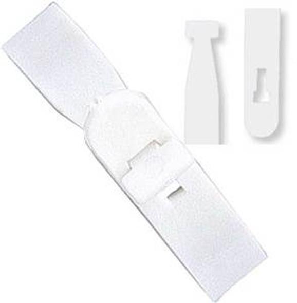 "2430-1008 Semi-rigid vinyl ""T"" lock strap - White"