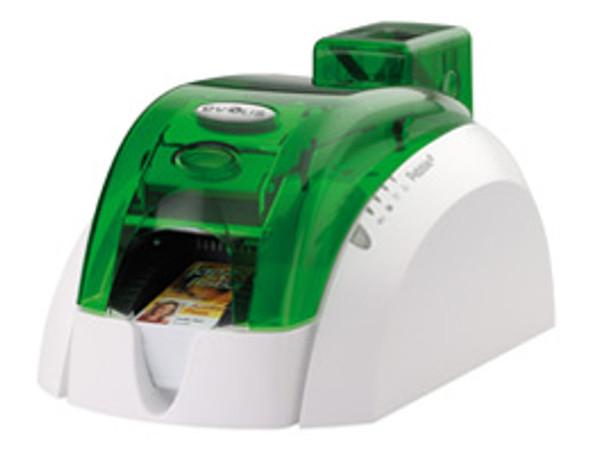 Pebble 4 Evolis Jungle Green Single-Sided ID Card Printer w/ Smart