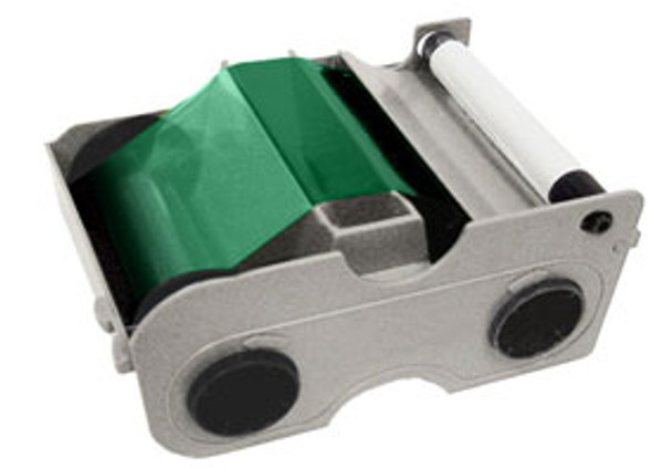 44204 Fargo Persona Green Cartridge w/Cleaning Roller - 1000 images