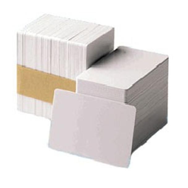 104523-111 Zebra white PVC 30 mil cards (500 cards)