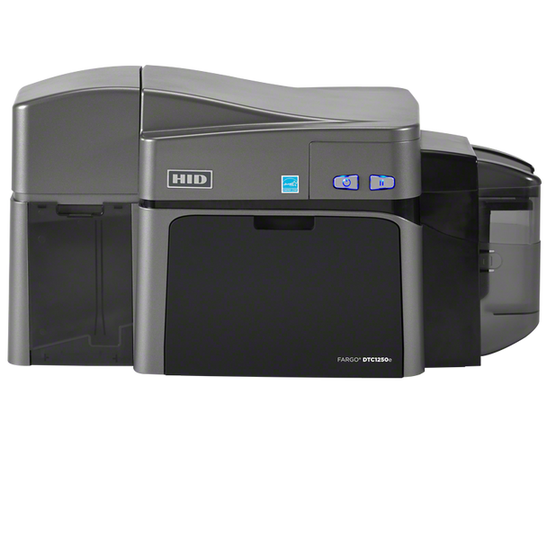 FARGO DTC1250e DUAL-SIDED ID CARD PRINTER WITH ETHERNET, INTERNAL PRINT SERVER, ISO MAG ENCODER