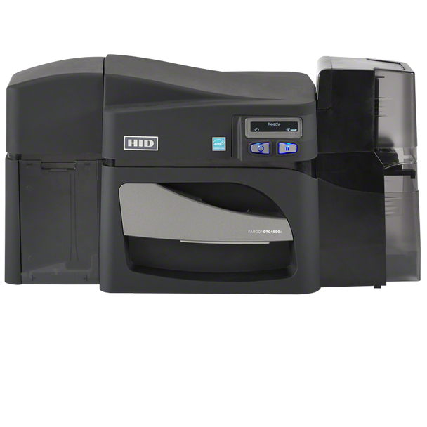 FARGO DTC4500e DUAL-SIDE PRINTER,SINGLE-SIDE LAMINATOR, ISO MAG ENCODER, W/O LOCKING HOPPERS