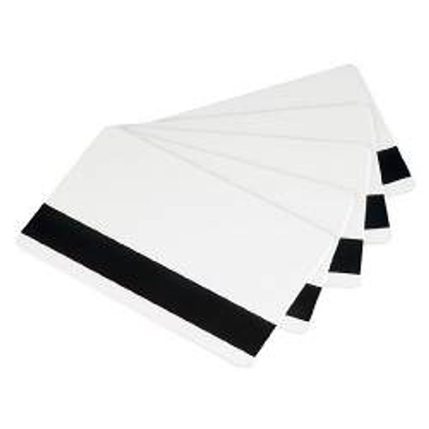 104523-813 Card, White PVC, High Coercivity Magnetic Stripe, 30 Mil, Retransfer-Ready