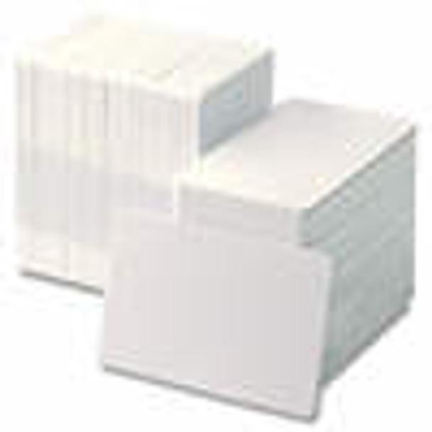104523-118 Zebra white PVC 30 mil cards, w/ signature panel 500 cards
