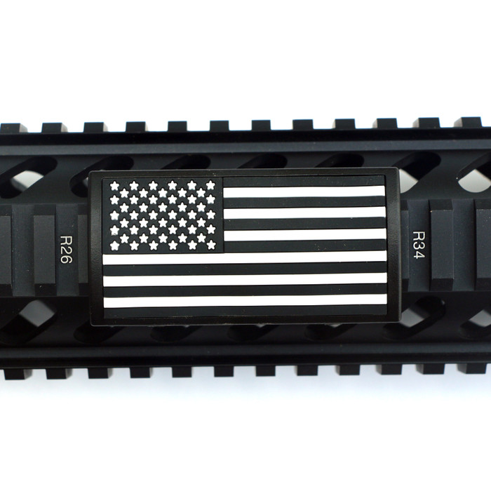 B&W US Flag Stars Left PVC Picatinny - Black Retainer