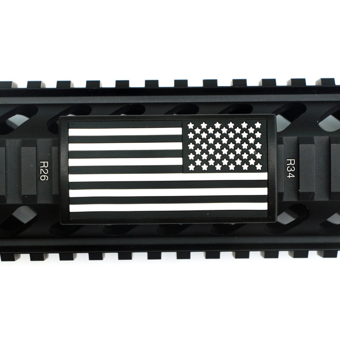 B&W US Flag Stars Right PVC Picatinny - Black Retainer