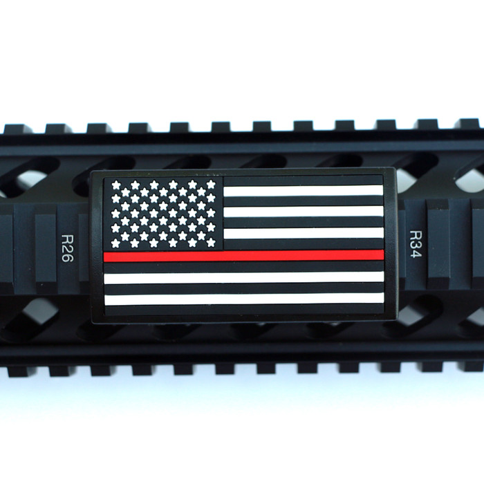 Red Line Flag Stars Left Picatinny- Black Retainer