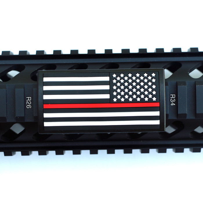 Red Line Flag Stars Right Picatinny - Black Retainer