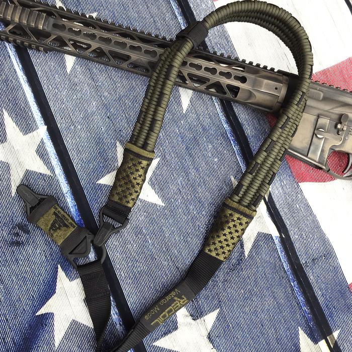 OD Green / Black US Flag Sling