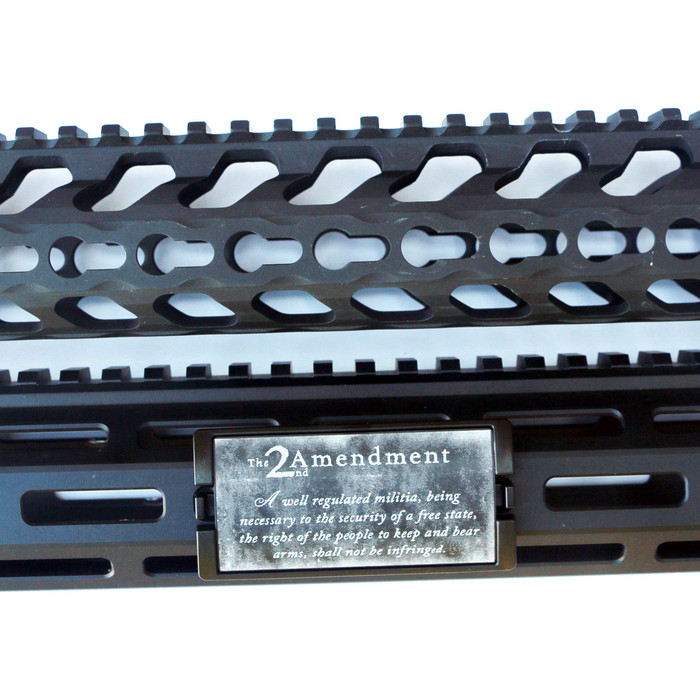 Second Amendment Laser Engraved KeyLok Rail Cover- Black Retainer
