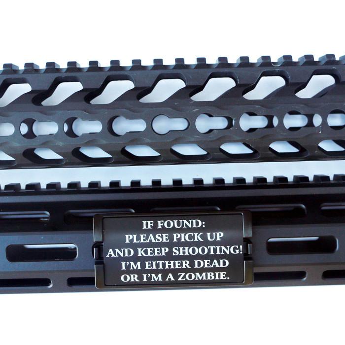 If Found... KeyLok Rail Cover- Black Retainer