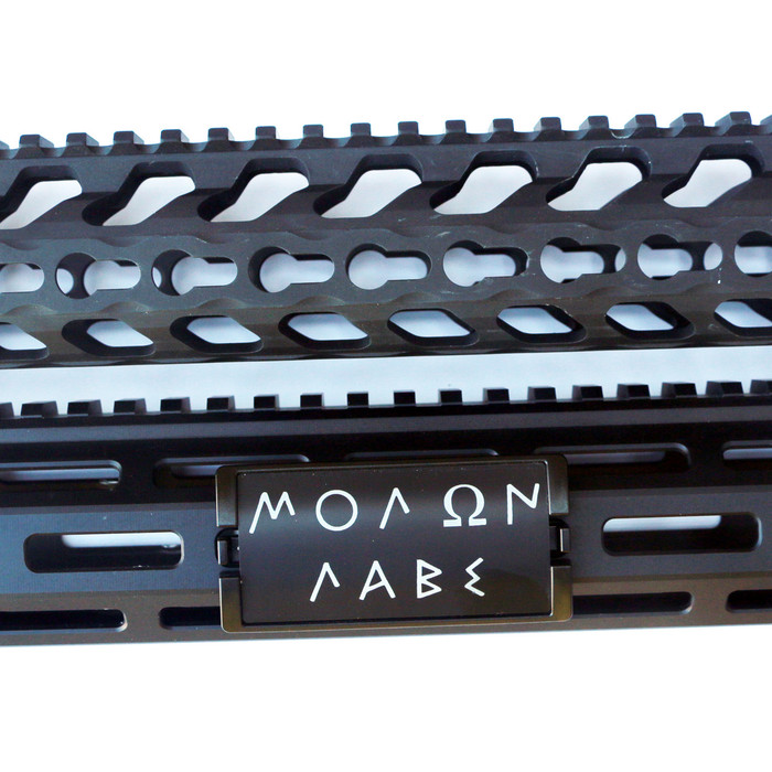 Molon Labe Greek KeyLok Rail Cover- Black Retainer