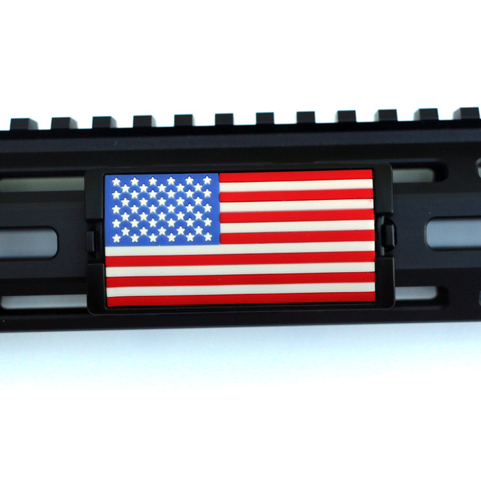 Red, White, and Blue US Flag Stars Left KeyLok - Black Retainer