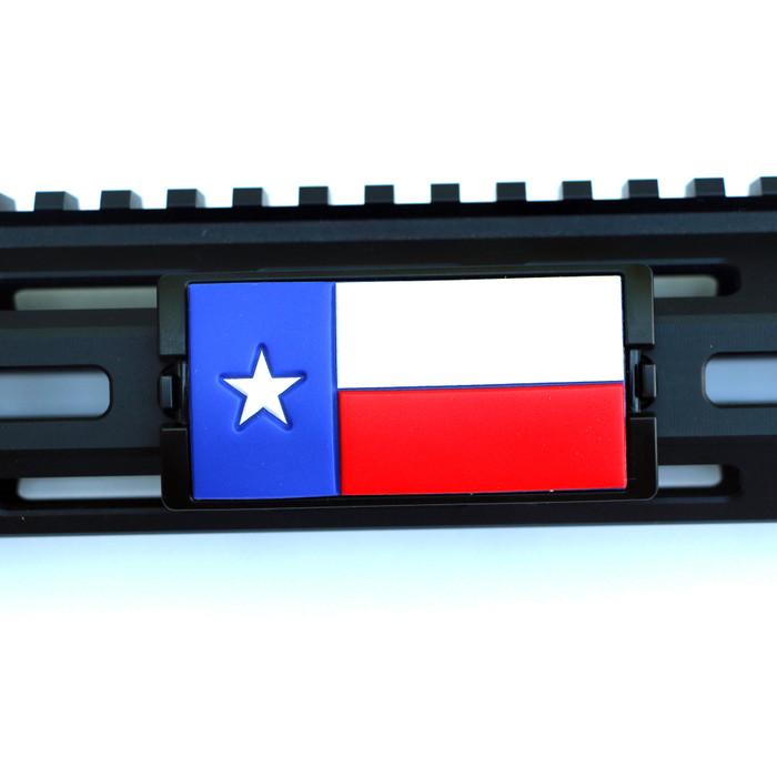 PVC Texas Flag KeyLok Rail Cover- Black Retainer