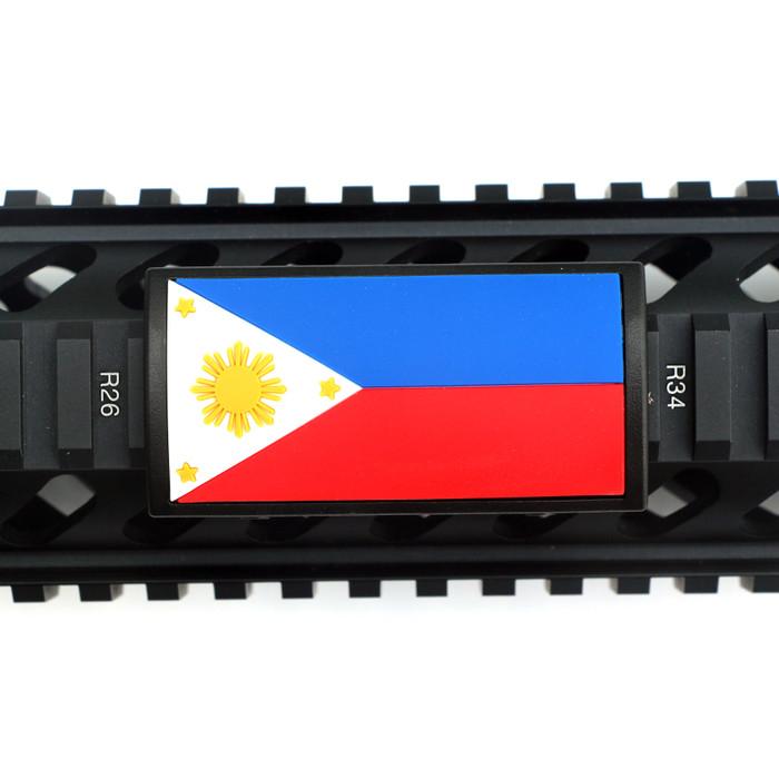 Philippines Flag PVC Picatinny Rail Cover- Black Retainer
