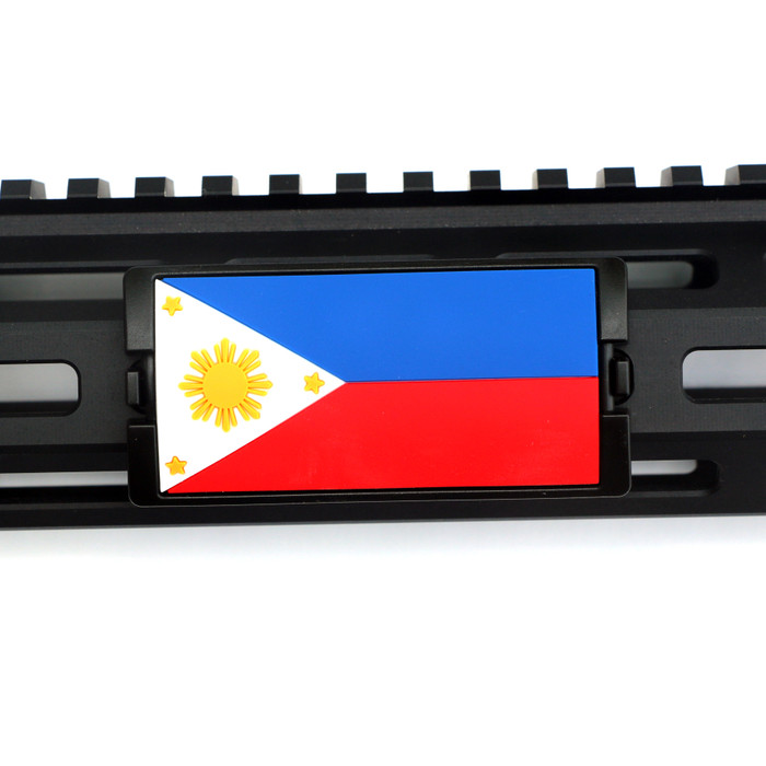 Philippines Flag KeyLok PVC Rail Cover- Black Retainer