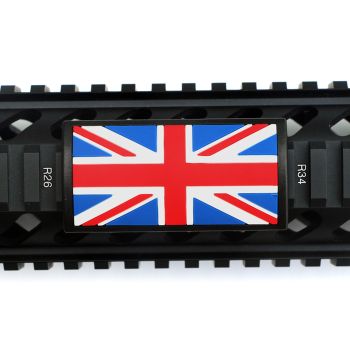 UK Flag PVC Picatinny Rail Cover- Black Retainer