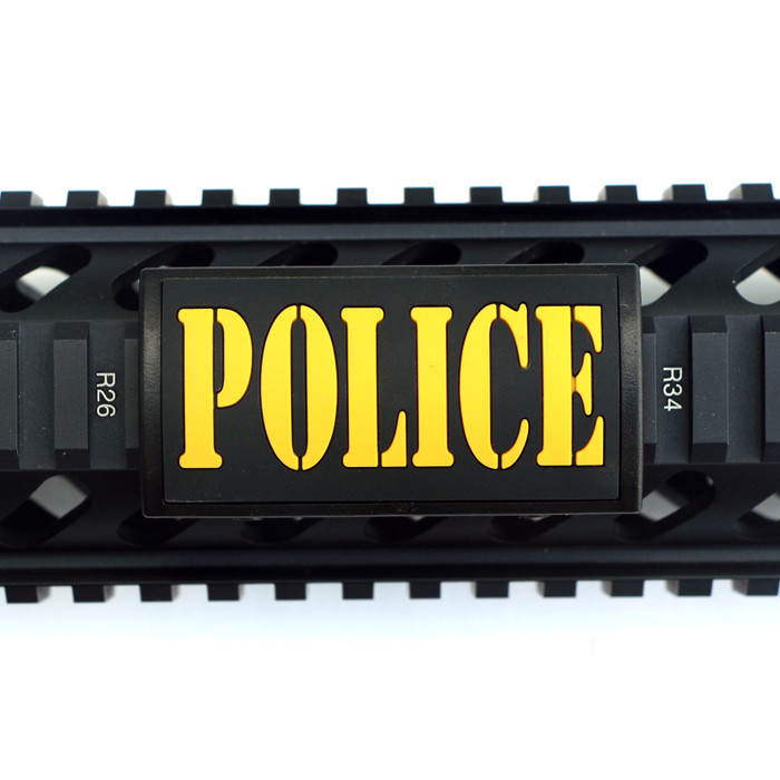 Police PVC Picatinny Rail Cover- Black Retainer