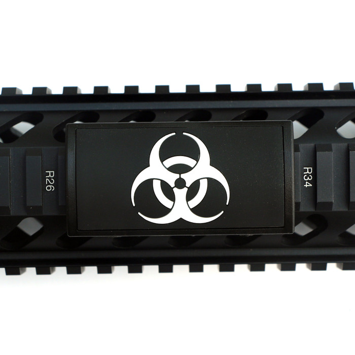 BioHazard PVC Picatinny Rail Cover- Black Retainer