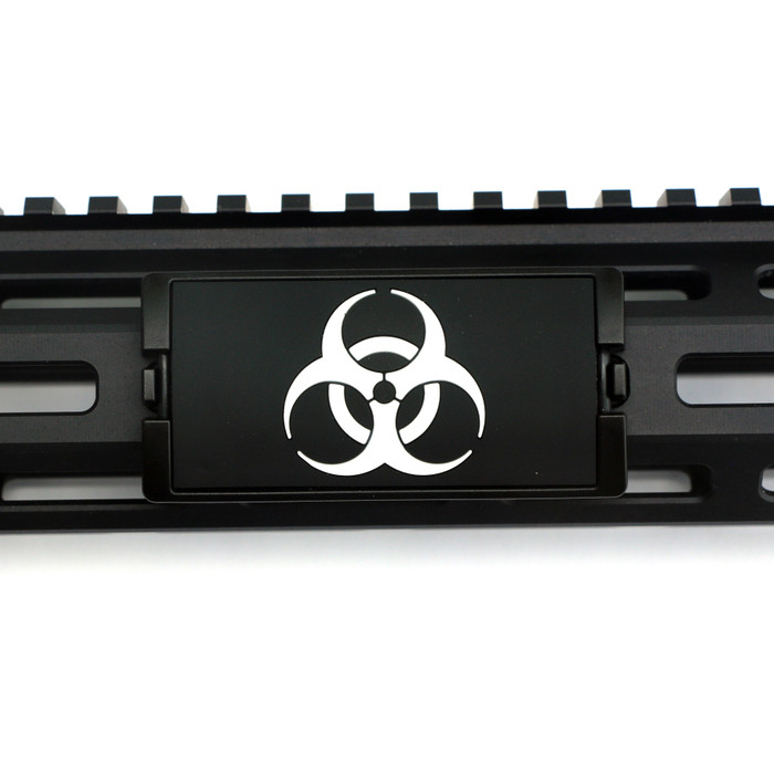 BioHazard PVC KeyLok Rail Cover- Black Retainer