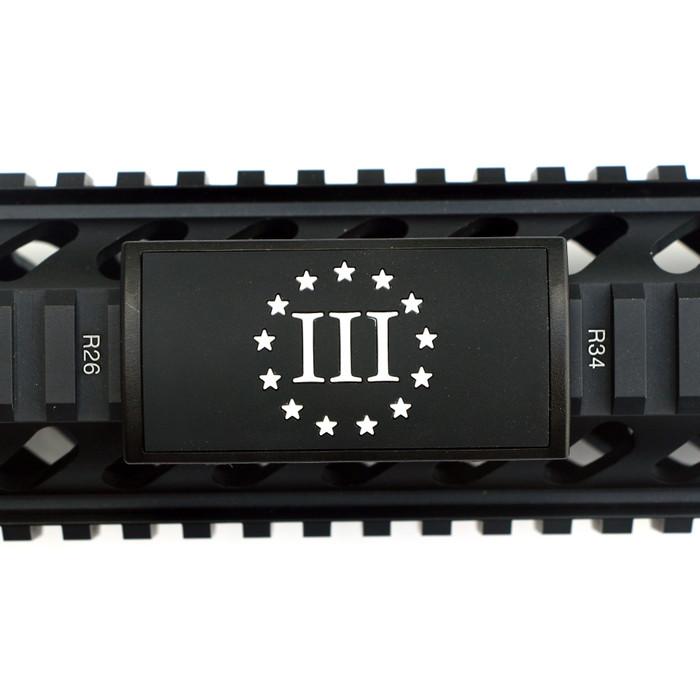 Three Percent PVC Picatinny Rail Cover- Black Retainer