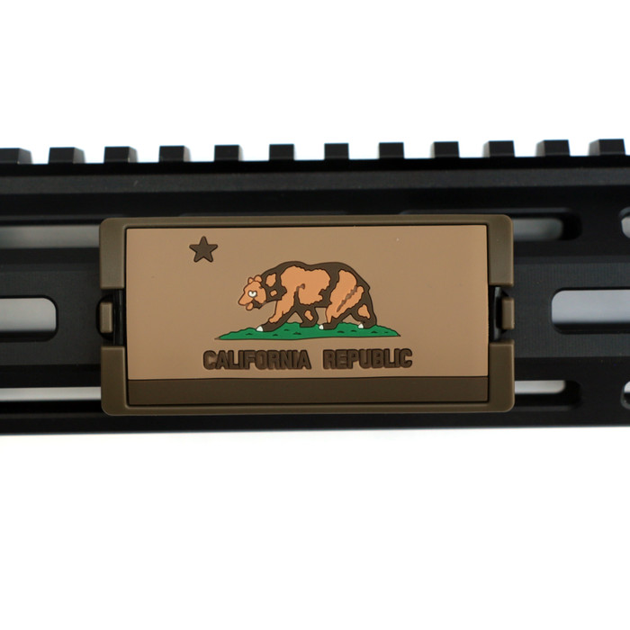 California Flag FDE PVC KeyLok Rail Cover- FDE Retainer