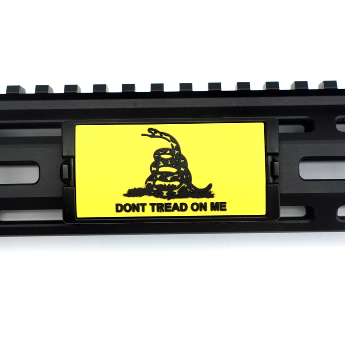Dont Tread On Me Yellow PVC KeyLok Rail Cover- Black Retainer