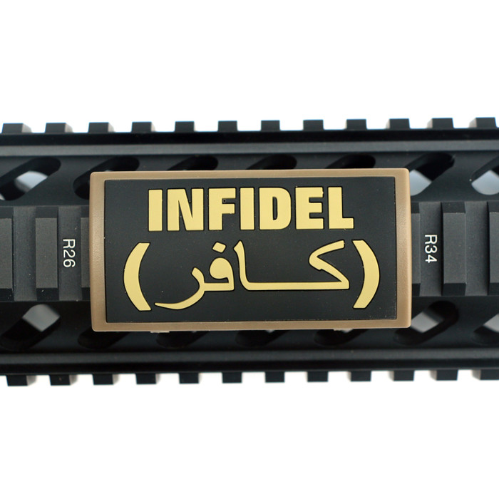 Infidel PVC Picatinny Rail Cover- FDE Retainer