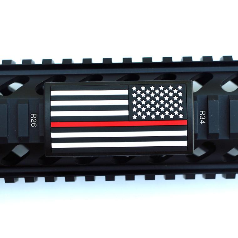 Red Line Flag Stars Right Picatinny - Black Retainer